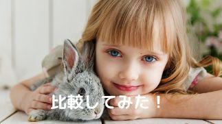 女の子とウサギ